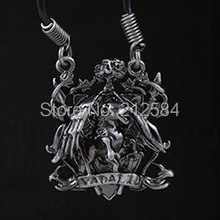 Fashion Woman's Man's Games Jewelry Gothic House Vadalis Pendant Necklace DnD Dungeons & Dragons Leather Necklace Free Shipping