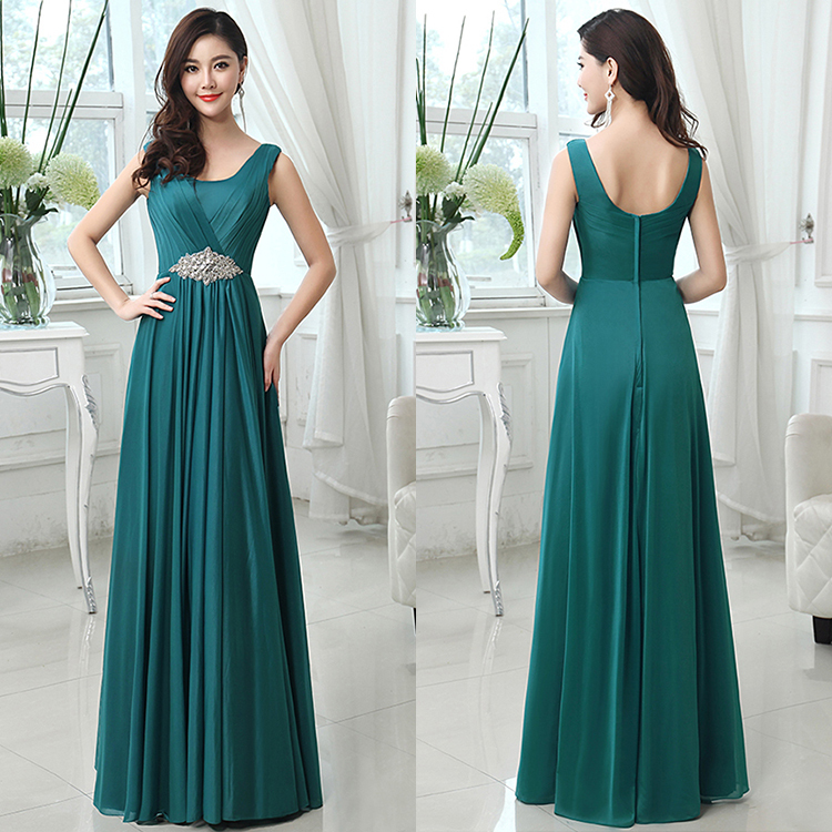 2015 Newest the most beautiful evening dress crystal beaded big size women dress evening dress for lady and girl's prom party(China (Mainland))