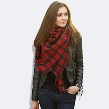 Women Imitation Cashmere Plaid Carpet Blanket Tartan Scarf 2015 British Female Autumn Winter Scarves Brand Shawls bufanda manta