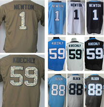 Lower Price Free shipping men's jersey,Elite 1 Newton 13 Benjamin 88 Olsen 59 Kuechly Jerseys,Size M-XXXL,Best Quality,Authenti(China (Mainland))
