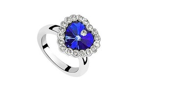 New Retailing Min.order is $15 (mix order) S091-  environmental protection - crystal ring - heart of the ocean