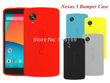 For LG Nexus 5 Case Official Matte Silicone Back Cover Bumper Fundas for Google Nexus5 D820 D821 E980 with or without Packing(China (Mainland))