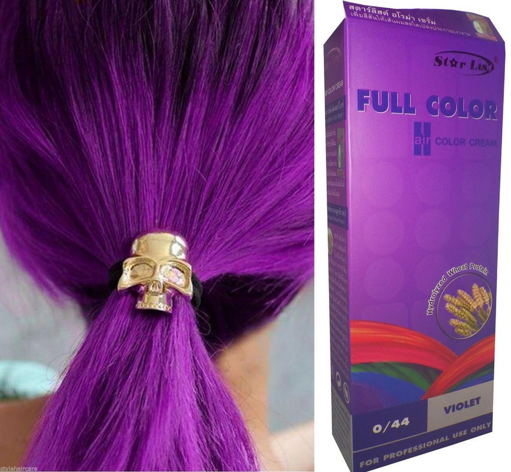 Hair COLOR Permanent Hair Cream Dye VIOLET PURPLE 0.44 - no Sulphate / Armonia Free Shipping