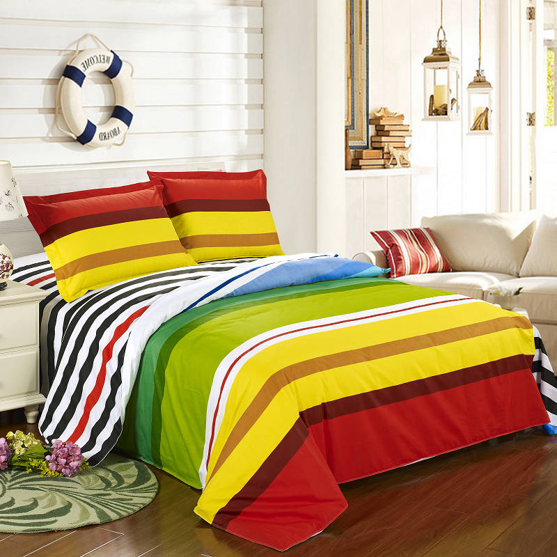 luxury bedding set high quality 100 cotton colorful