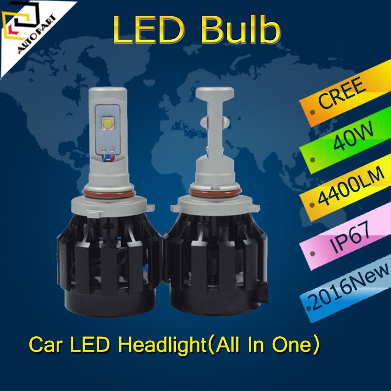 9005 9006 H1 H3 H7 H8 H9 H11 40W 4 SMD 4400LM 6000K White 12V Car LED Headlight Daytime Driving Lights(China (Mainland))