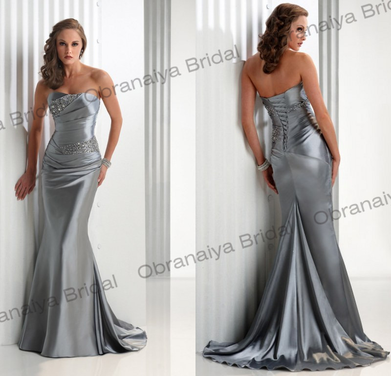modern strapless floor length mermaid lace up prom dresses 2014 robe de