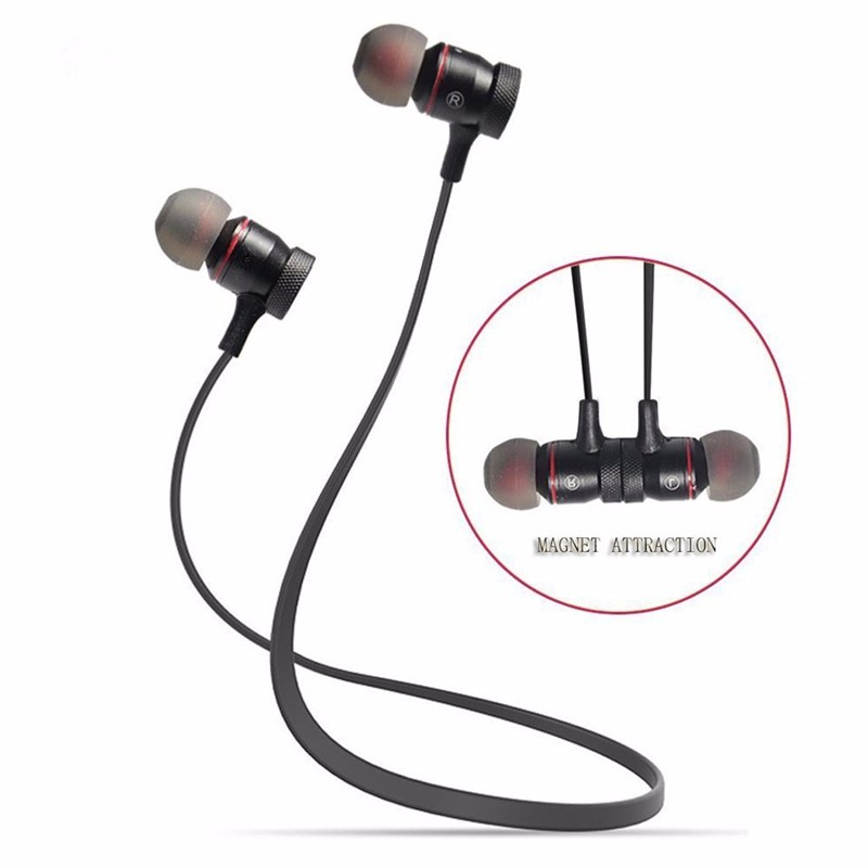 Bluetooth V4.1 Wireless Sport Running Earphone Stereo In-ear Magnet Earbud With Microphone Earphone For iphone Sumsang Xiaomi