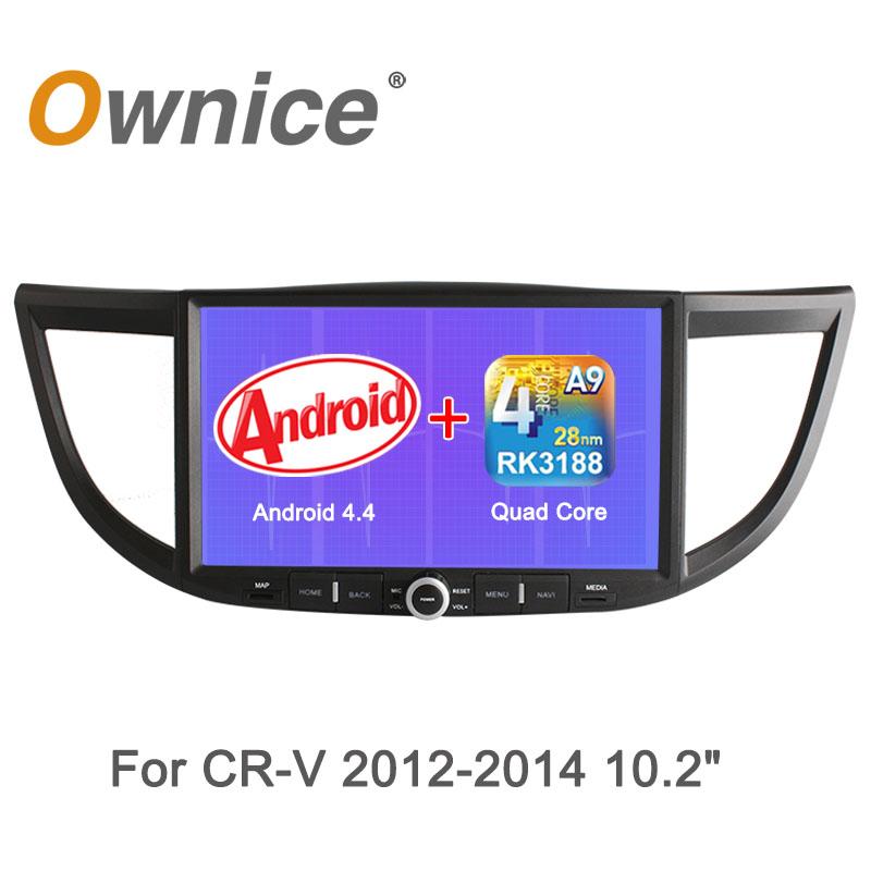 Автомобильный DVD плеер Ownice 10.2 HD 1024 * 600 DVD/honda Crv 4.4 Wifi жертвуя пешкой dvd