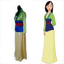 Custom-made Hua Mulan Princess cosplay Costume Dress for Halloween Movie Cosplay Costume