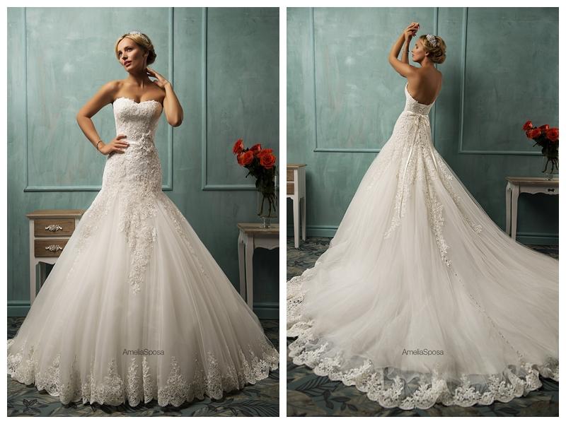 Aliexpress.com : Buy 2015 White Tulle Mermaid Wedding Dresses ...