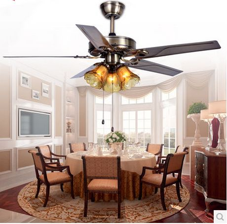 52inch Pendant Fan Light Stainless Steel Home Decorative Pendant Lighting Fan