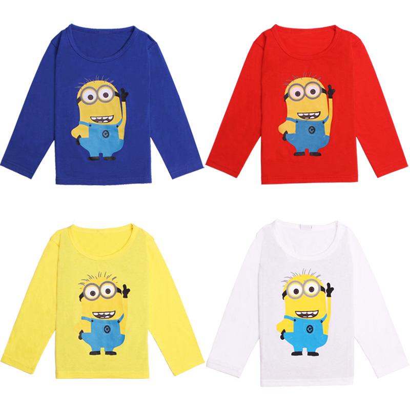 Гаджет  Top quality Hot Sale Cute Cartoon Baby Long sleeve T-shirt girls boys children Clothes for summer T shirt Free Shipping None Детские товары