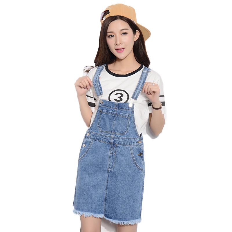 Denim Overall Skirt 26