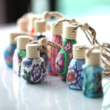100 шт./лот ролл-на печать флаконы полимерной глины пустой маленький духи многоразового бутылки автомобиль кулон персонализированные подарки