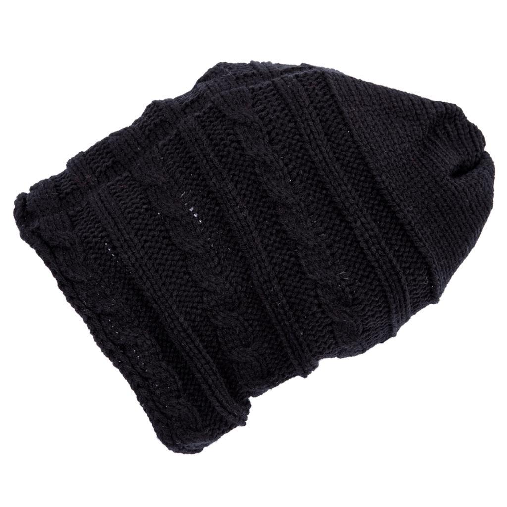Скидки на TFGS 10 x (Winter Черный Негабаритных Вязать Багги Шапочка Слауч Hat Мужская Мода Подарков