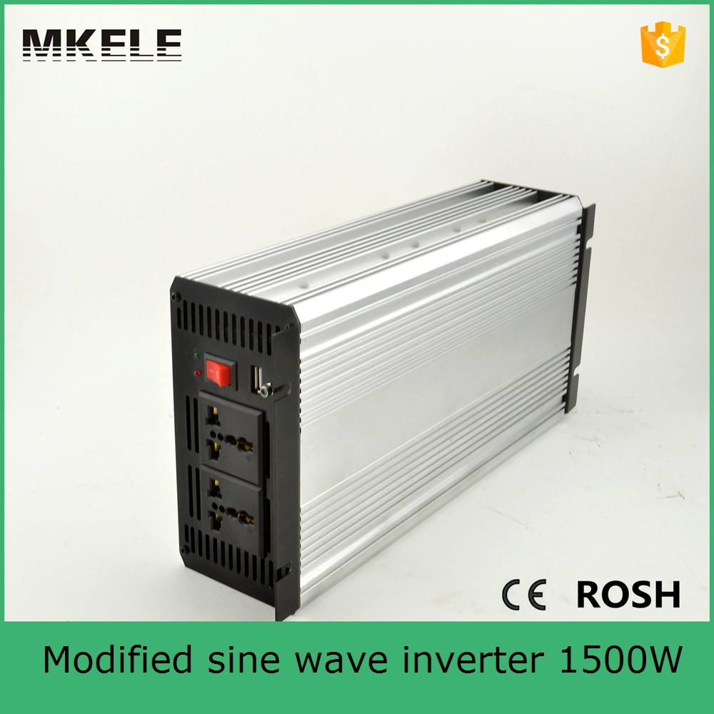 Фотография MKM1500-241G modified sine wave high power inverter 110/120vac off-grid 1500 power inverter 24v power inverter manufacturers