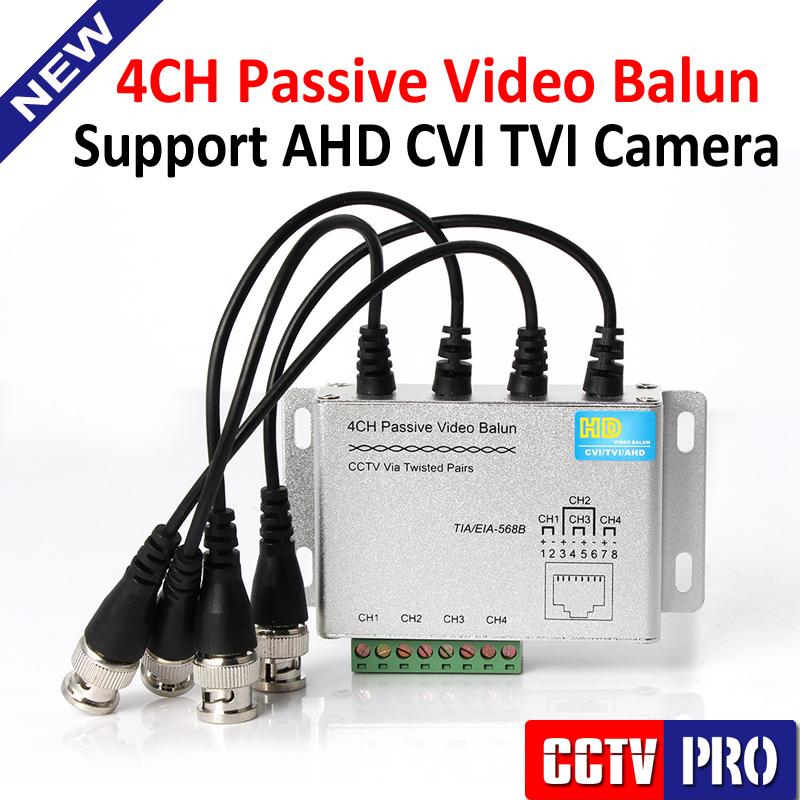 CCTV 4 Channel UTP Video Balun BNC to UTP RJ45 Camera Passive 4CH Video Balun Transmitter Support 720P/1080P AHD Camera 250m(China (Mainland))