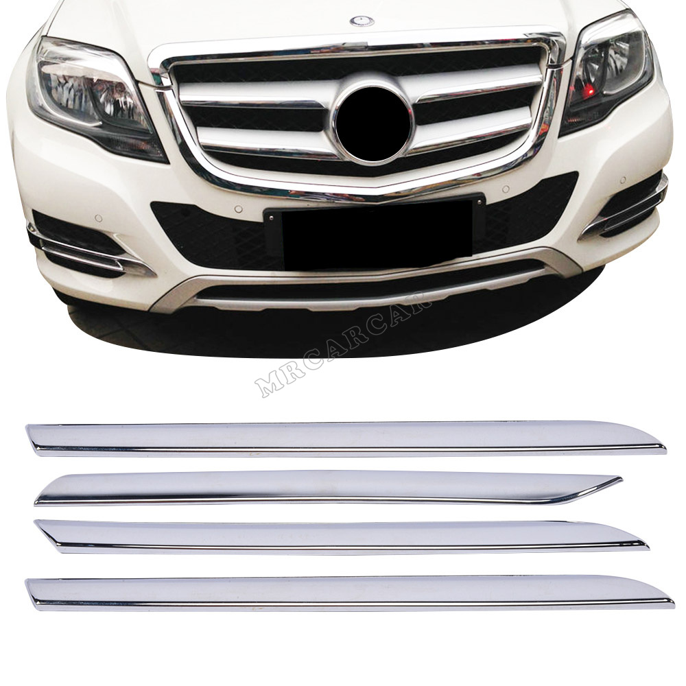 Фотография New Design Front Grille Cover ,ABS Chrome Molding Decor Frame Fit For Benz GLK Class 2013 2014
