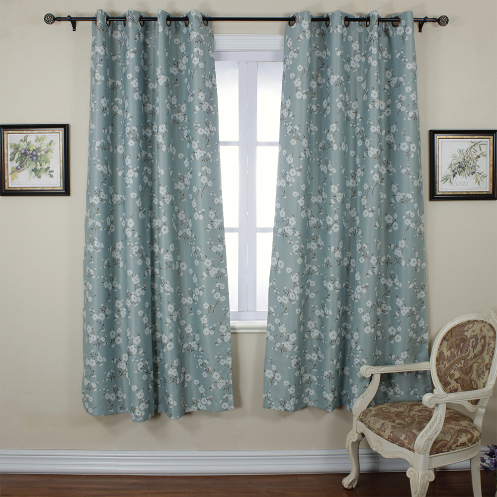 One pastoral rustic blackout thermal insulated printed for Best blackout window treatments