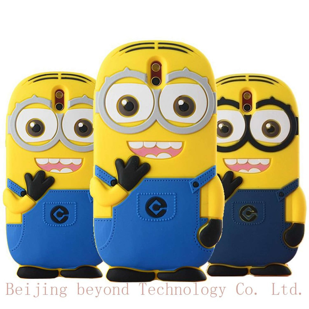 3D Minions Phone Silicone soft Case Cover For HTC Desire 608T 608t Cases Gel Shell(China (Mainland))