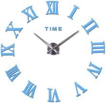 Oferta especial espelho acrílico relógio de parede diy adesivos ainda vida relógio de quartzo relógios relógios de sala de estar decoração de casa moderna(China)