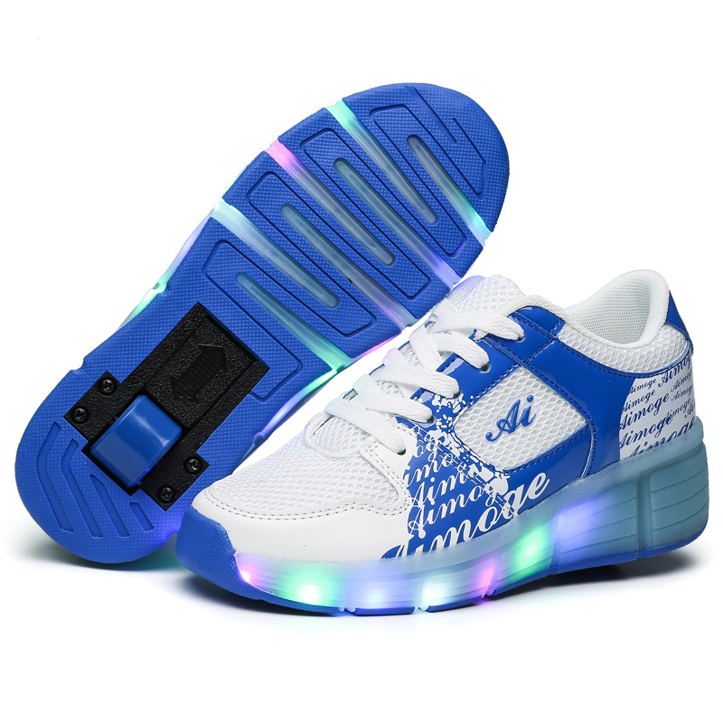 2016 New Heelys Kids Roller Shoes Girl &amp; Boy LED Lighted Flashing Roller Skates Children Fashion Sneakers With Wheel Size 29-43<br><br>Aliexpress