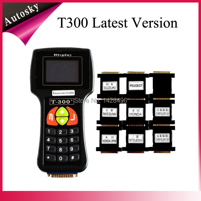 2pc/Lot V15.8 T300 Car Key Programmer Key Transponder T300 Tcode Professional Auto Key Programmer T 300 With 2 Years Warranty(China (Mainland))