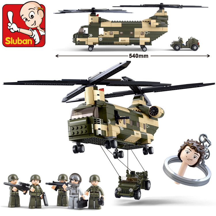 Building Block Sets Compatible lego military transport helicopter 3D Construction Brick Educational Hobbies Toys Kids