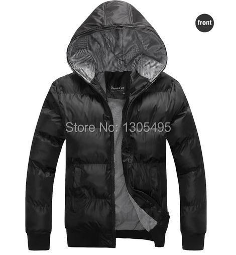 2015new Brand down cotton jacket winter down coat blue Black Outwear wind coat winter clothes men