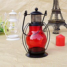 The latest hot iron Lantern Lamp Candlestick windproof candlelight dinner wedding props will sell gifts(China (Mainland))