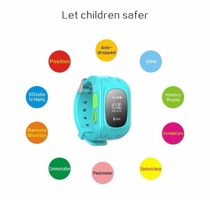 ถูก 2016ร้อนเด็กQ50จีพีเอสสมาร์ทนาฬิกานาฬิกาข้อมือSOSสถานที่ตั้งFinder L Ocatorติดตามสำหรับเด็กเด็กต่อต้านหายไปตรวจสอบเด็กของขวัญ