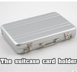 Free shipping 10pc/lot Password Aluminium Mini Briefcase Business Card Case BG041(China (Mainland))