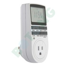 Us Plug Digital Lcd Display Programmable Timer Switch 24h 7 Day 15a 110v Lcd Display Timer
