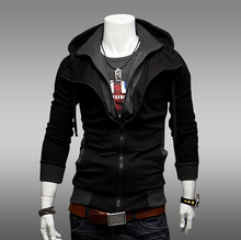 2015 Fashion Brand Men Clothing Double Layer Zipper Up Men Hoodies Jackets Male Sports Casual Men