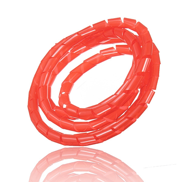 New Arrvial 1M Spiral Wire Wrap Tube Manage Cord for PC Computer Home Cable 4 50MM