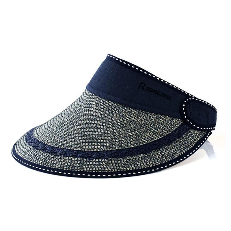 Foldable Summer Sun Hats For Women Wide Brim Panama Beach Hat Ladies Chapeu Panama Outdoor Sun Protection Fishing Visors(China (Mainland))
