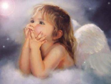 Needlework Crafts French DMC Quality Counted Cross Stitch Kit Oil Painting The Toddler Angel 2014 New Arrivals Free Ship(China (Mainland))
