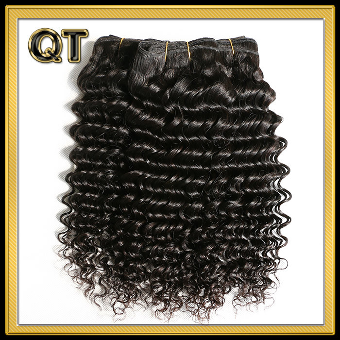 Queen Weave Beauty Malaysian Deep Wave 3Bundles/Lot Unprocessed Malaysian Virgin Hair Hot Human Hair Weave Malaysian Curly Hair(China (Mainland))