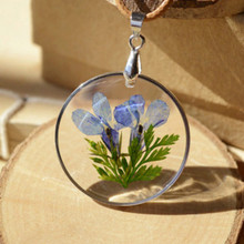 Buy Flyleaf Handmade Epoxy Natural Flower Long Necklaces & Pendants Vintage Bronze Rope Chain Necklace Jewelry Accessories for $2.37 in AliExpress store