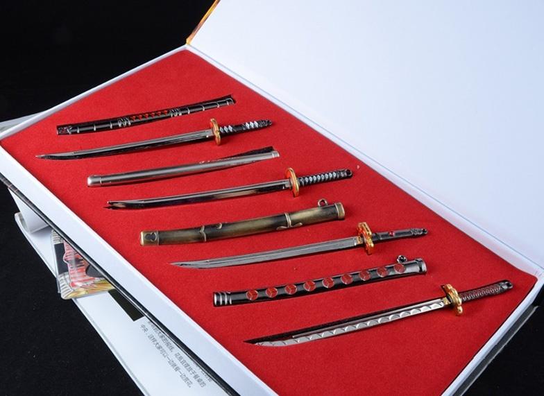 Buy Gift Box Packaging JP Anime One Piece Rorozoa Zoro Figure Sword Weapon  Four ninja Knife 15 cm Model Toys cheap