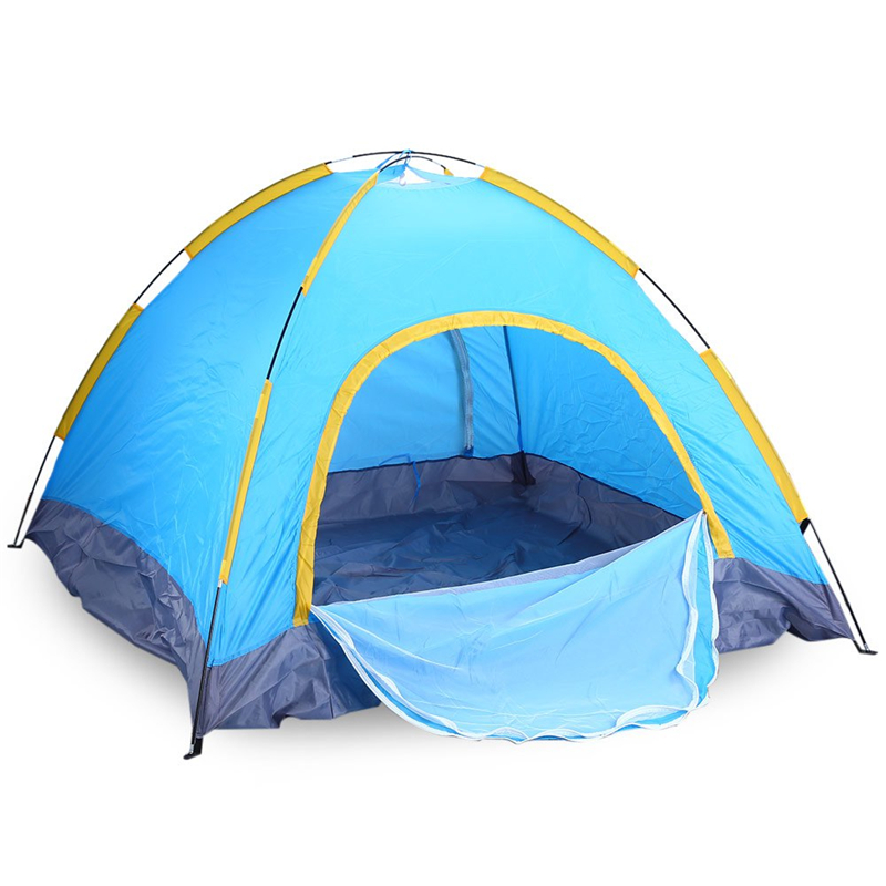 4-Person 3-Season Outdoors Camping Dual Layer Water Resistant Camping Tent windproof Multi-functional Breathable Tents(China (Mainland))