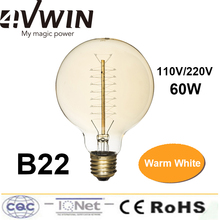 Antique Vintage Lamp  Incandescent Bulb B22 60W Decoration Of Commercial Bedroon 110-220VAC Retro Filament Light(China (Mainland))