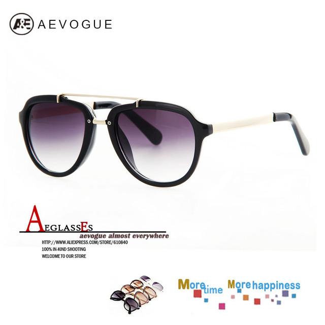 Aevogue винтажный солнечные очки женщины наиболее солнцезащитные очки металл храм UV400 AE0189