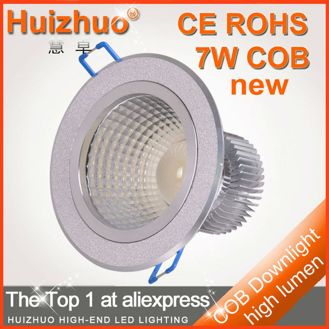 [Huizhuo Lighting]new arrival 7W led COB Downlight 630-770lm new cob recessed lamp free shipping