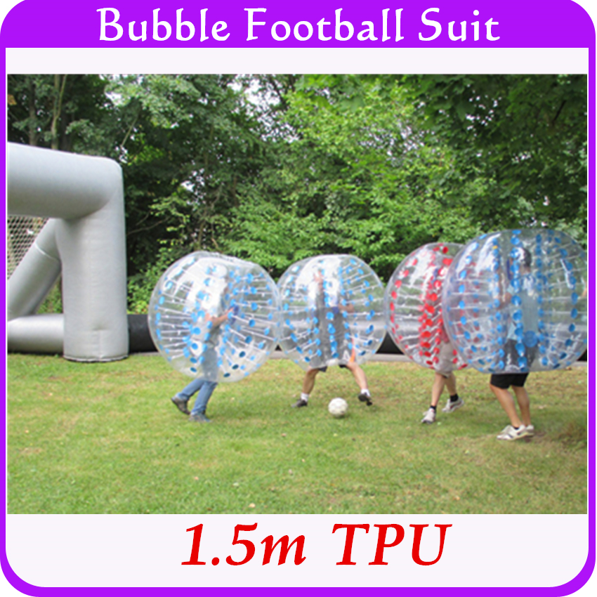Factory wholesale! Outdoor games bubble soccer plastic TPU 1.5m inflatable bubble body zorbing ball suit dropshipping(China (Mainland))