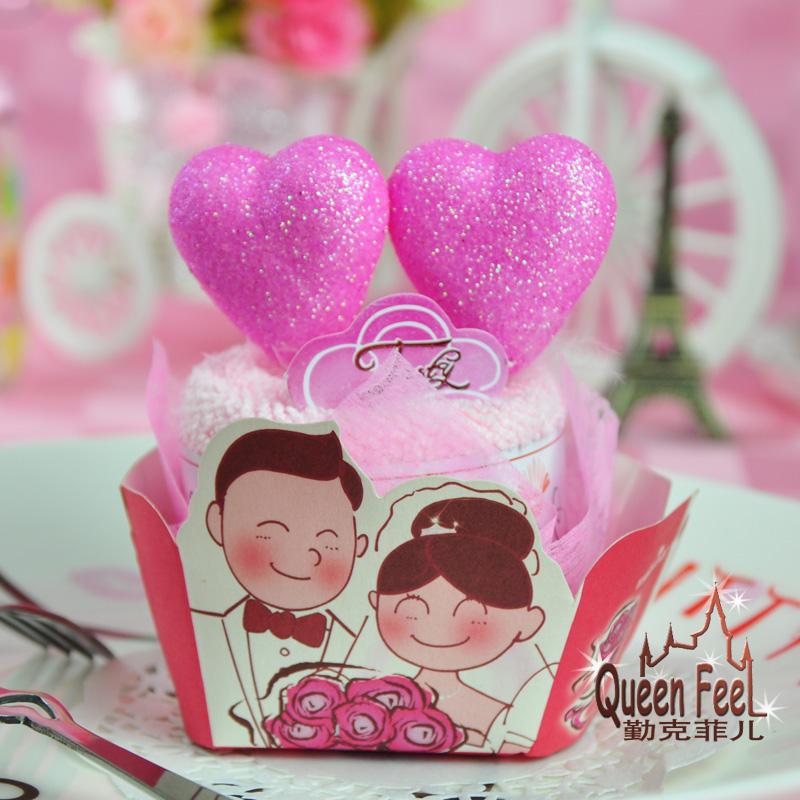 Wedding supplies lovers style towel Christmas gift cake towel(China (Mainland))