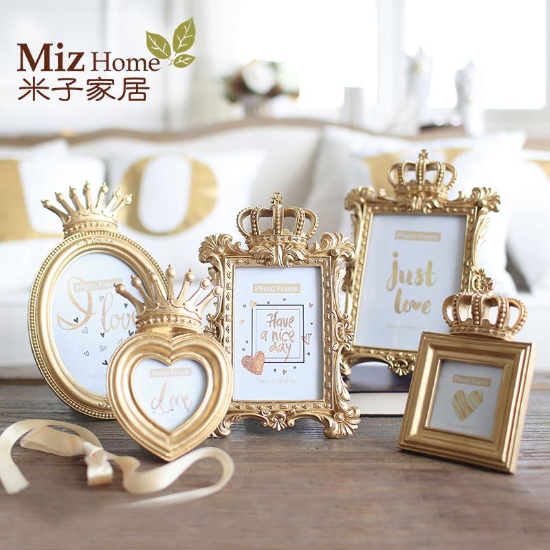 Miz Homw 1 Piece Bachelor Style Gold Luxury Picture Frame