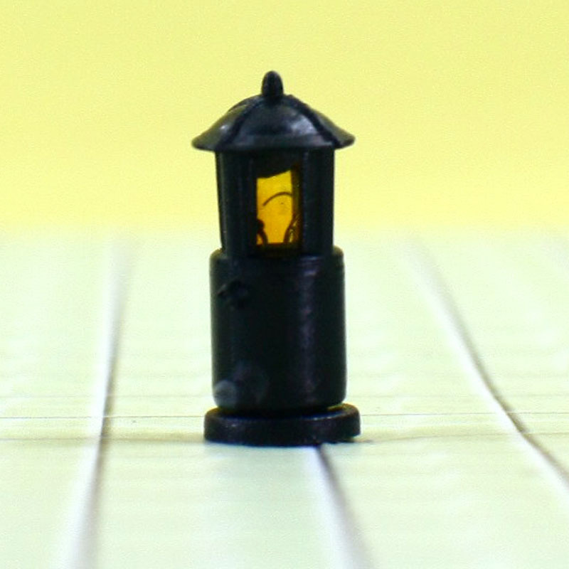 2000PCS free shipping by Fedex 6V Scale Train Layout Model Lampposts yellow Lamp Lights T17-04(China (Mainland))