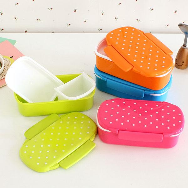 Одного bento box точка бенто коробка может микроволновая печь конфеты цвета бенто ланч бокс для детей закуска пищевых контейнеров бенто коробка посуда