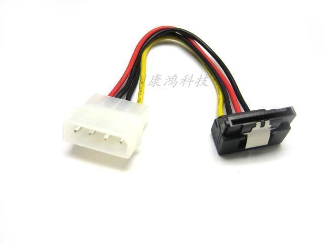 4Pin Molex to Right Angle 15Pin Serial ATA SATA Adapter Power Cable(China (Mainland))